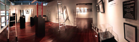 The LADDER Series in solo exhibition 2017, with CHILDHOOD Series in background